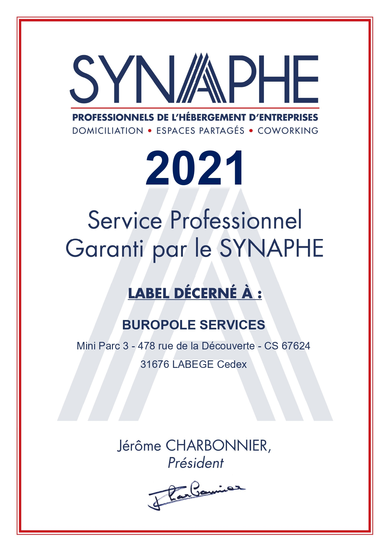 Label synaphe